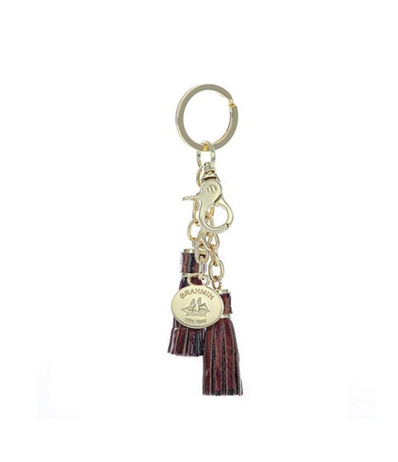 ブランミン レディース ハンドバッグ バッグ Melbourne Leather Tassel Key Ring Pecan