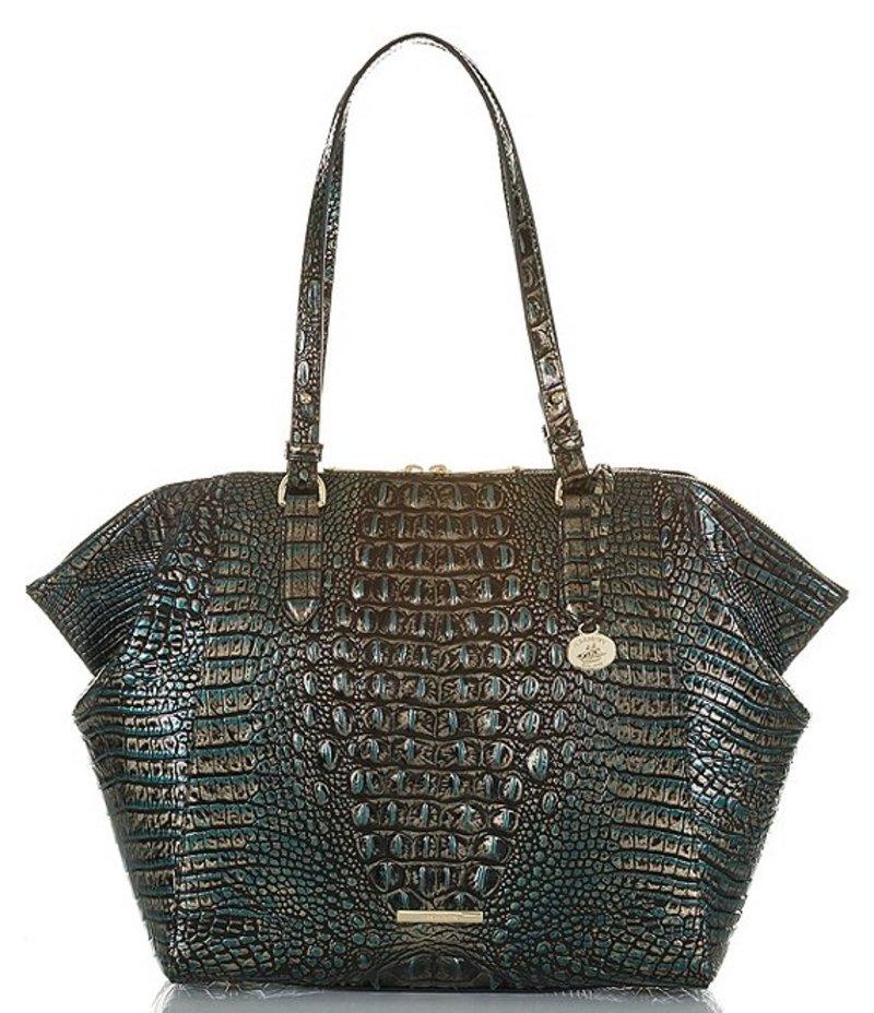 送料無料 サイズ交換無料 ブランミン レディース バッグ トートバッグ Agate ブランミン レディース トートバッグ バッグ Melbourne Collection Crocodile-Embossed Medium Camilla Tote Bag Agate