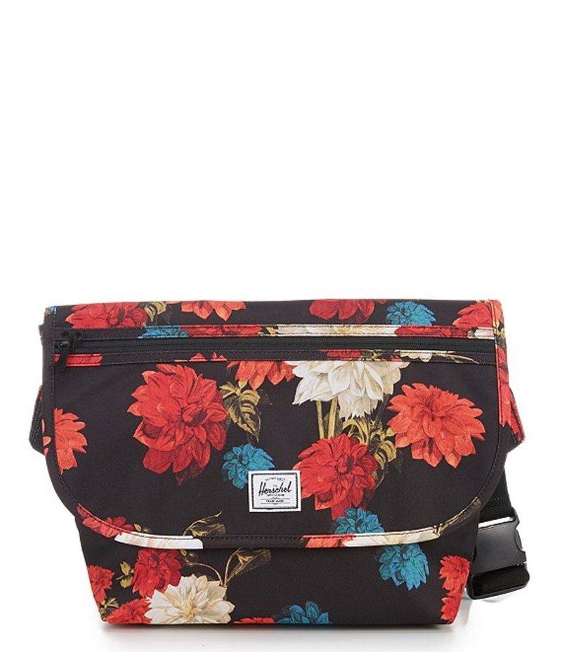 ハーシェルサプライ レディース ショルダーバッグ バッグ Grade Mid-Volume Messenger Bag Vintage Floral Black