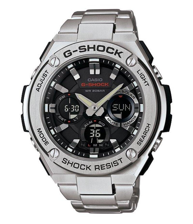 ジーショック メンズ 腕時計 アクセサリー G-STEEL Ana/Digi Stainless Steel Watch SILVER
