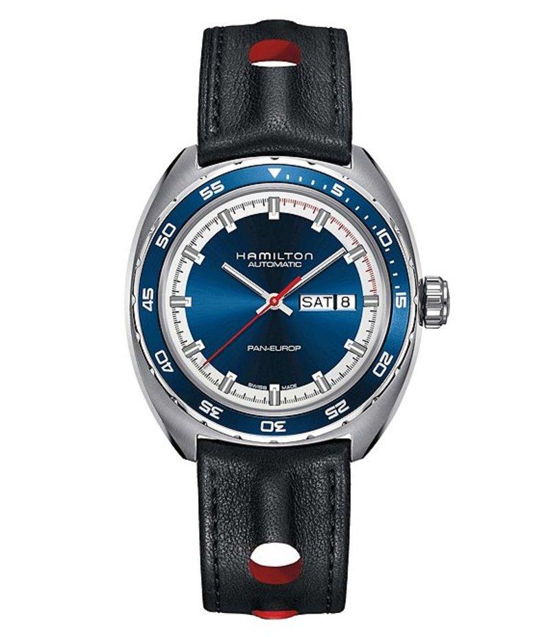 ハミルトン メンズ 腕時計 アクセサリー Pan-Europ Automatic Day & Date Watch Black/Blue