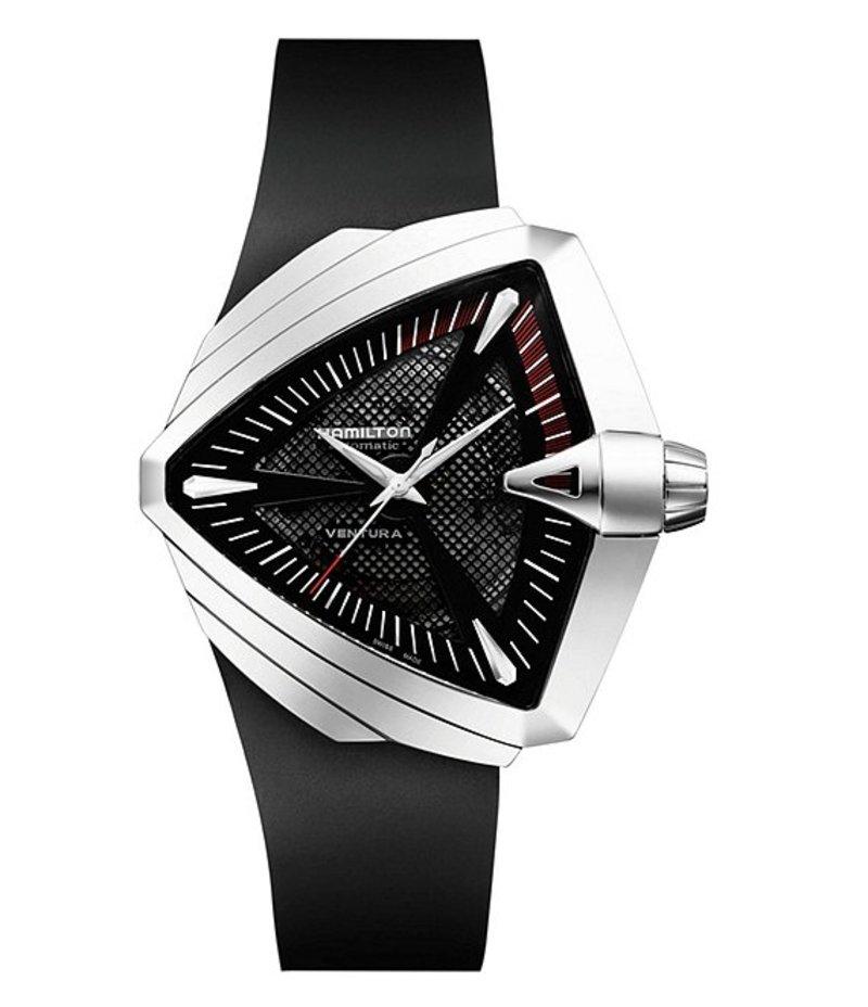 ハミルトン メンズ 腕時計 アクセサリー Ventura XXL Automatic Rubber-Strap Watch Black