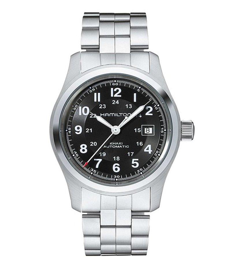ハミルトン メンズ 腕時計 アクセサリー Khaki Field Automatic Bracelet Watch Silver