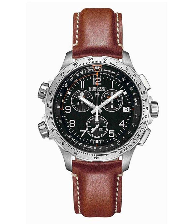 ハミルトン メンズ 腕時計 アクセサリー Khaki X-Wind Chronograph Watch Brown