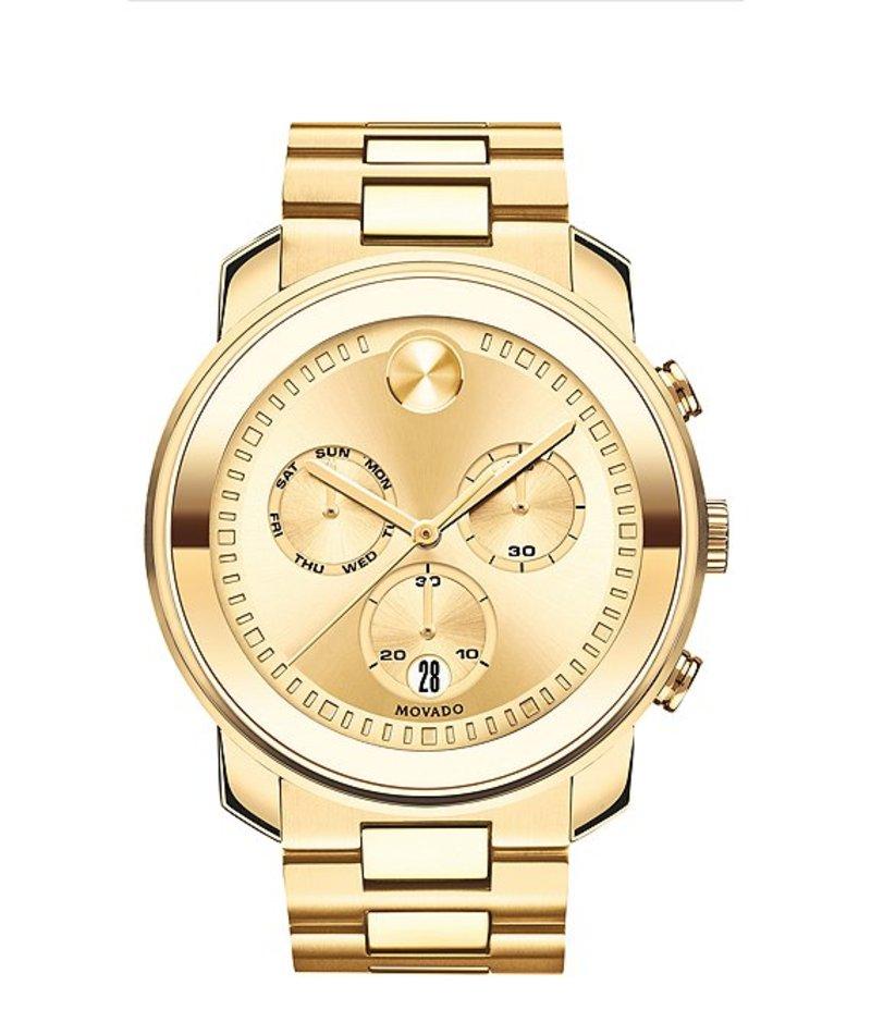 モバード メンズ 腕時計 アクセサリー Bold Men's Metals Gold-Tone Swiss Quartz Chronograph Watch Gold