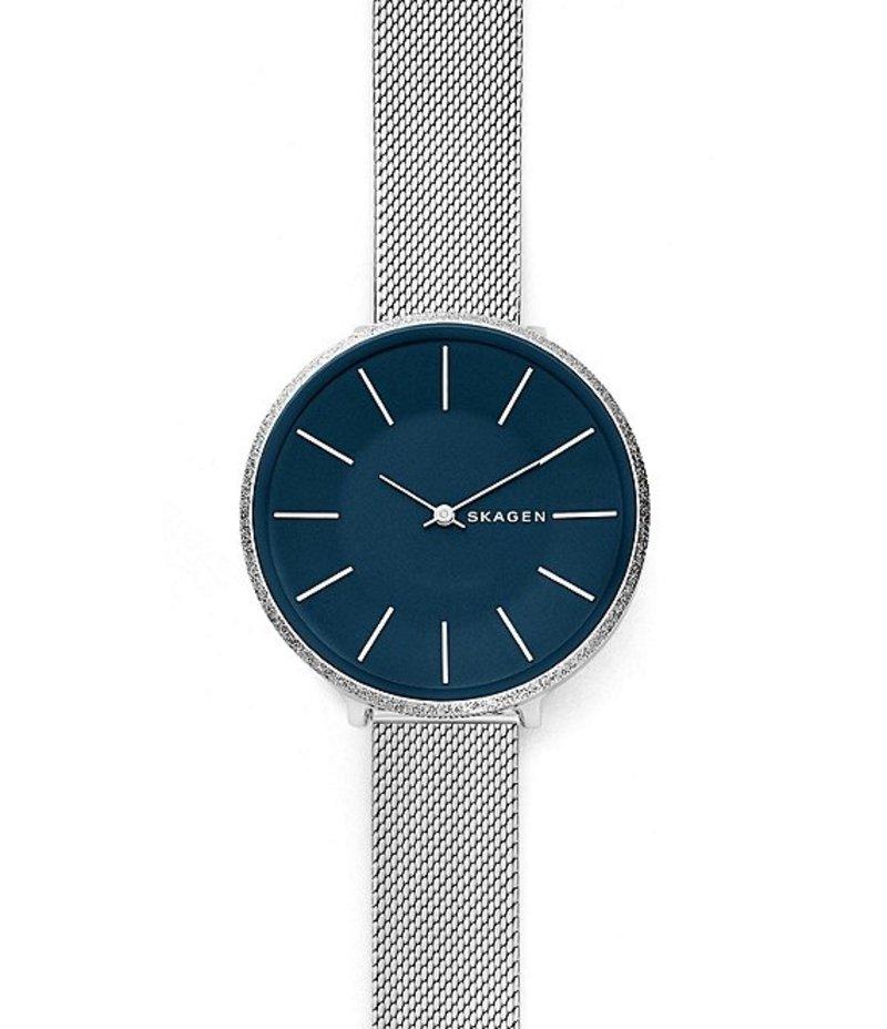スカーゲン レディース 腕時計 アクセサリー Karolina Silk-Mesh Watch Blue