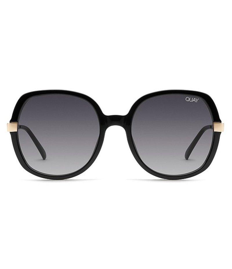 クアイオーストラリア レディース サングラス・アイウェア アクセサリー Quay #QUAYXCHRISSY Gold Dust Oversized Sunglasses Black Smoke