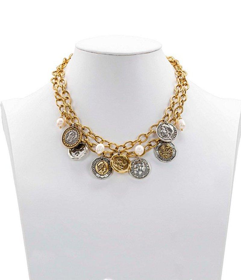 パトリシアナシュ レディース ネックレス・チョーカー アクセサリー The World Coin Double Charm Necklace Gold