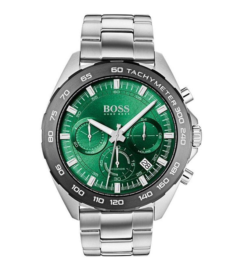 ヒューゴボス メンズ 腕時計 アクセサリー BOSS Hugo Boss Intensity Chronograph Grey IP Watch Silver