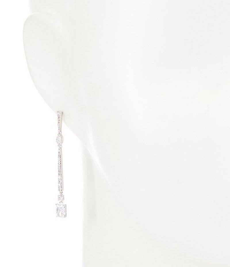 ナディール レディース ピアス・イヤリング アクセサリー Rae Long Linear Drop Earrings SilverW2eEDHI9Y