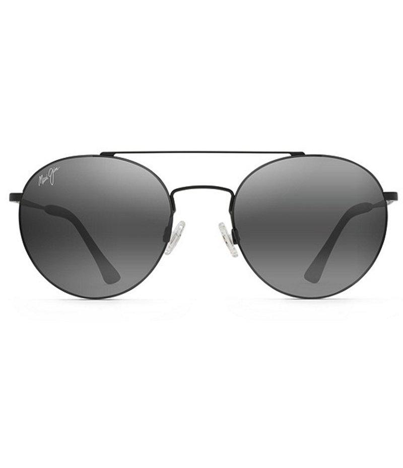 マウイジム レディース サングラス・アイウェア アクセサリー Pele's Hair Polarized Aviator Sunglasses Matte Black
