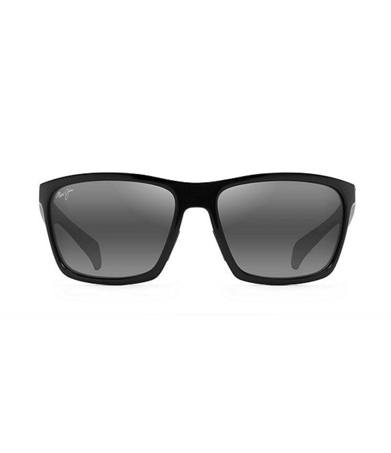 マウイジム メンズ サングラス・アイウェア アクセサリー Makoa Classic Wrap Polarized Sunglasses Gloss Black