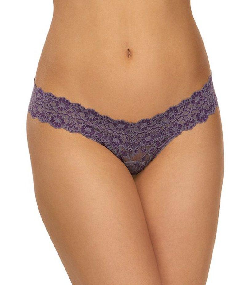 ハンキーパンキー レディース パンツ アンダーウェア Cross-Dyed Low-Rise Thong Folkstone Grey/Purple