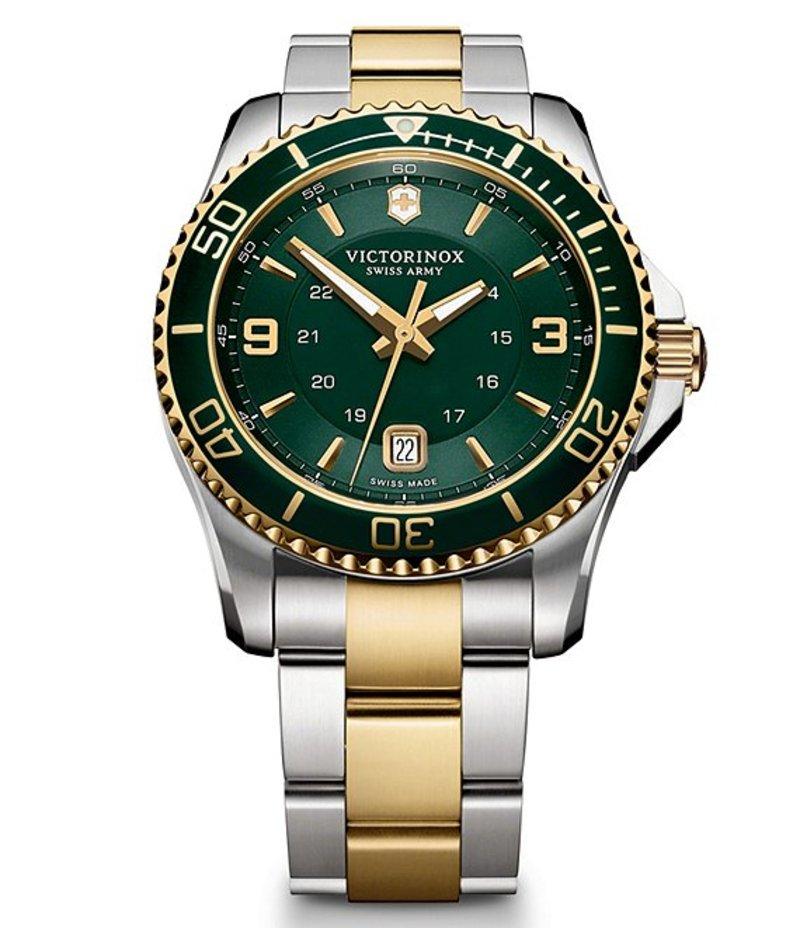 ビクトリノックス メンズ 腕時計 アクセサリー Maverick Two-Tone Bracelet Watch Two Tone