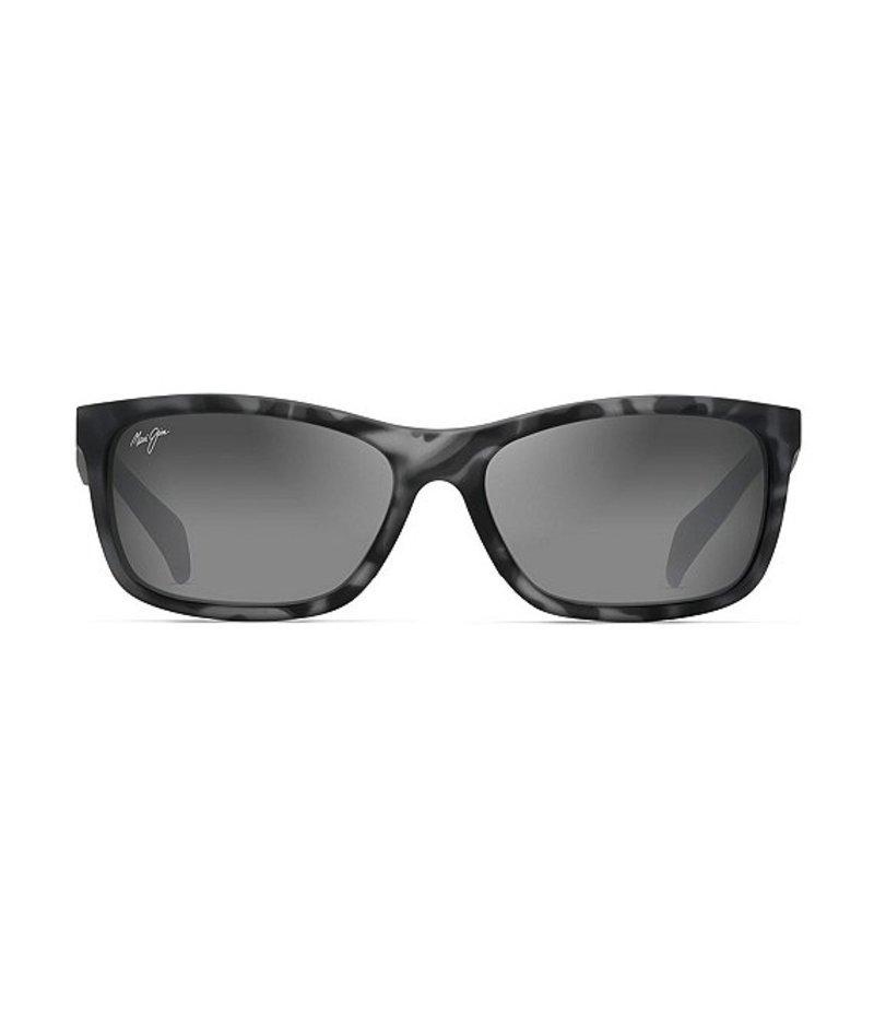 マウイジム レディース サングラス・アイウェア アクセサリー Puhi Polarized Wayfarer Sunglasses Grey Tortoise Matte