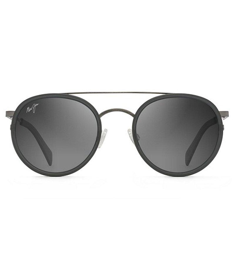 マウイジム レディース サングラス・アイウェア アクセサリー Even Keel Polarized Fashion Round Sunglasses Gunmetal with Translucent Matte Grey