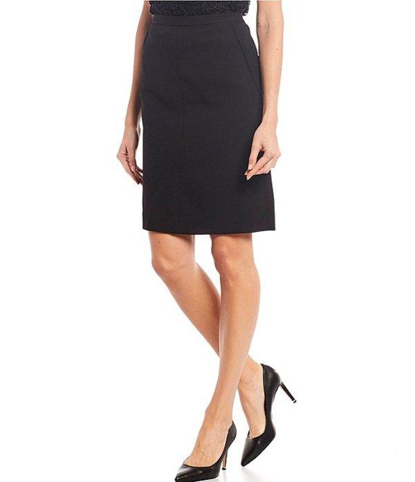 アンクライン レディース スカート ボトムス Bi-Stretch Side-Front Pocket Pencil Skirt Black
