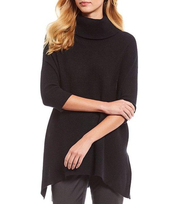 アントニオ メラーニ レディース カットソー トップス Luxury Collection Sienna Cashmere Poncho Turtleneck Tunic Black