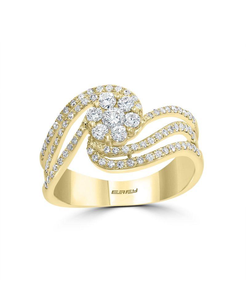 【国内正規総代理店アイテム】 エフィー レディース リング アクセサリー BOUQUET By EFFY Diamond (1/2 ct. t.w.) Ring in 14k Yellow Gold Yellow Gold, コスメプリマ d40700a2