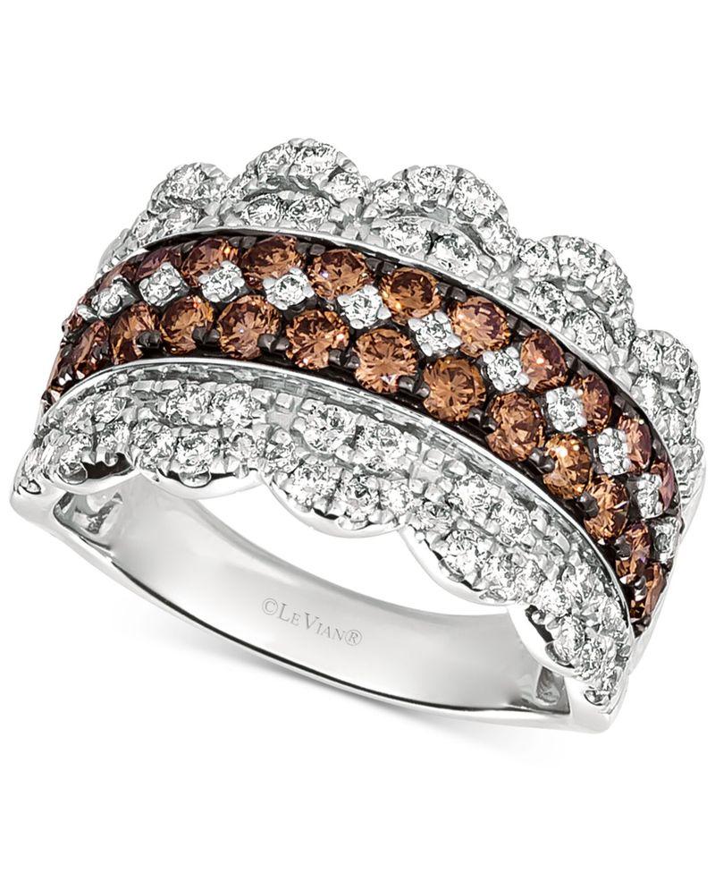 日本最大級 ル 14k リング ヴァン レディース Ring リング アクセサリー Diamond Crown Ring (2 ct. t.w.) in 14k White Gold WHITE GOLD, 日高町:8f850514 --- greencard.progsite.com