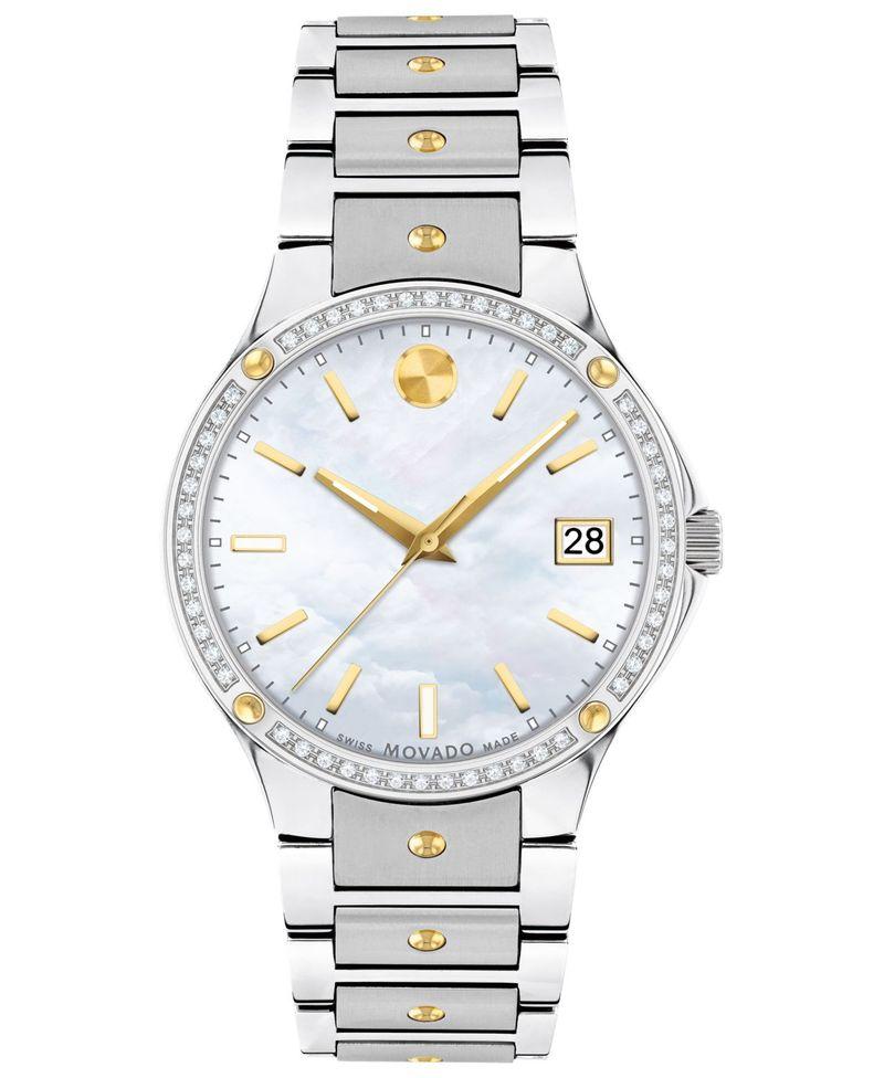 送料無料 サイズ交換無料 モバド レディース アクセサリー 腕時計 Two Tone Women's Swiss Sports Edition t.w. 5 限定Special Price 32mm ct. Stainless Watch 日本メーカー新品 1 PVD Steel Bracelet Gold-Tone Diamond