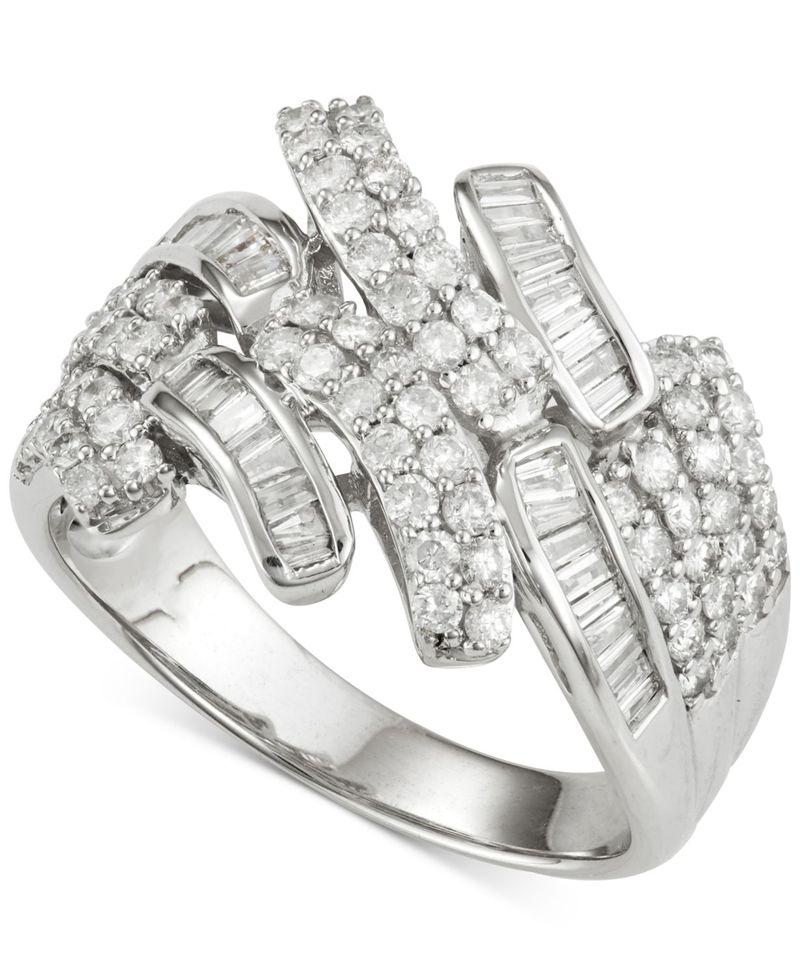 最終決算 ラップド イン ラヴ レディース リング (1 アクセサリー Color Diamond Ring (1 No ct. t.w.) in 14k White Gold No Color, おすすめ:462ceb73 --- villanergiz.com