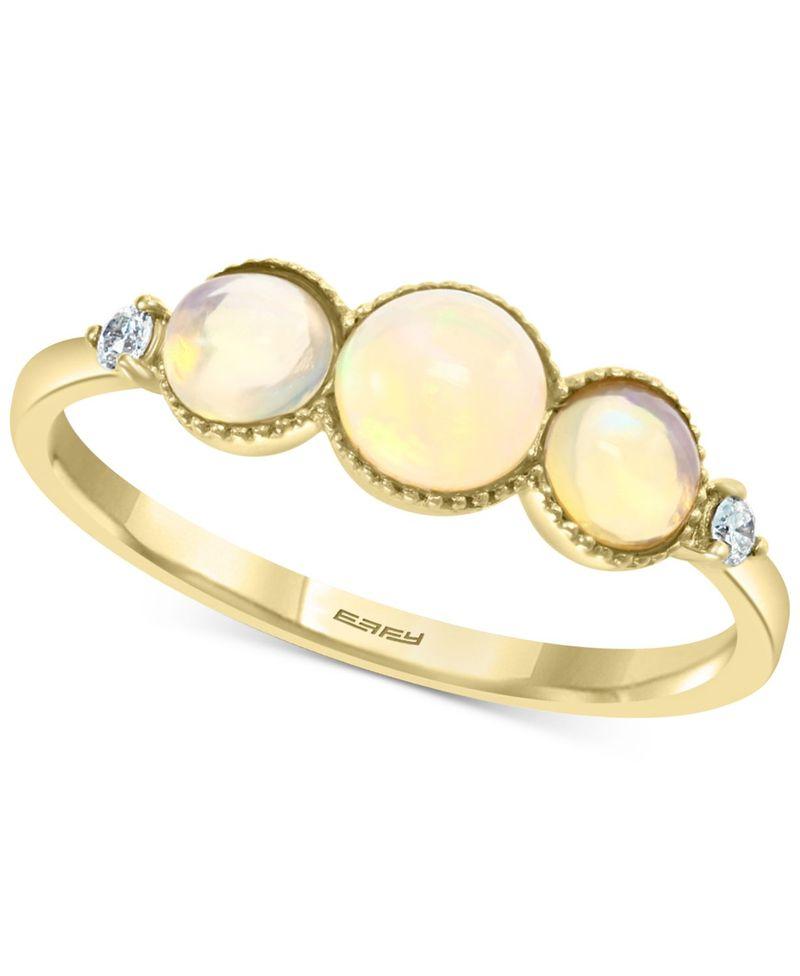 セール特価 送料無料 サイズ交換無料 エフィー レディース アクセサリー リング Opal EFFY 1 t.w. 14k in Diamond Gold 当店限定販売 2 Ring ct. 20