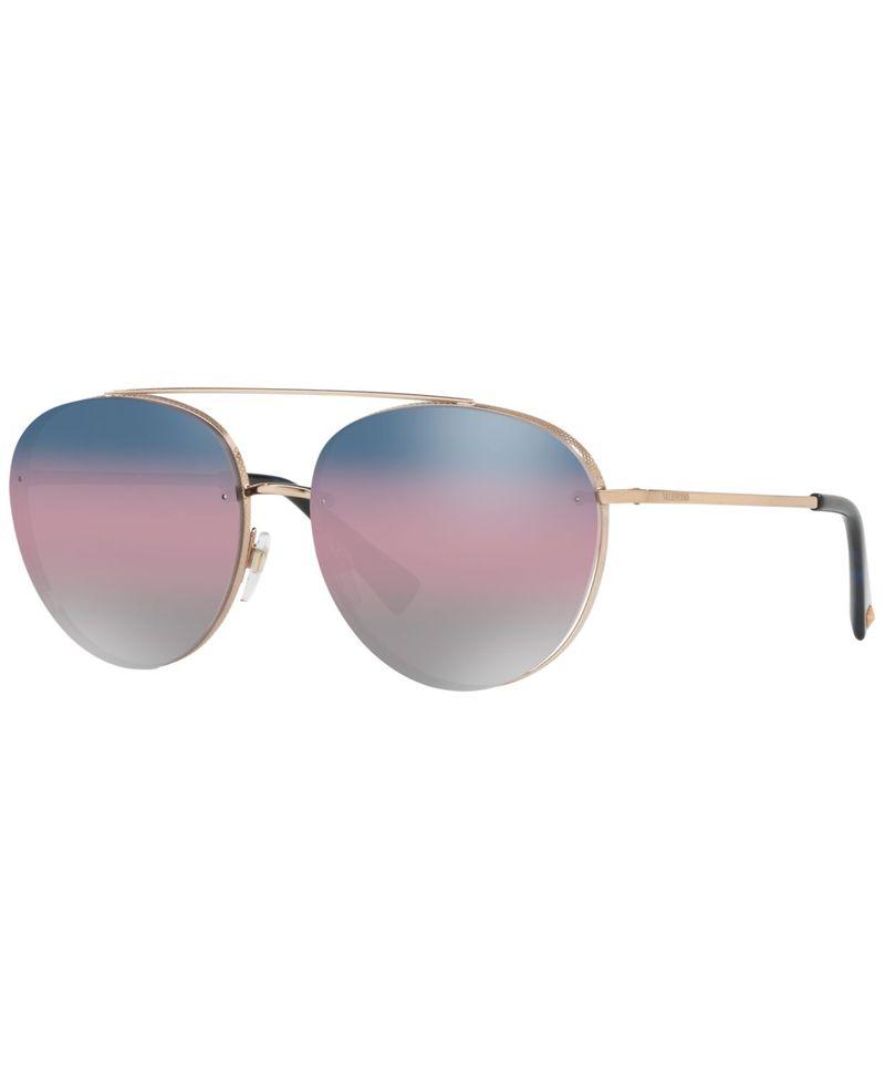 【タイムセール!】 ヴァレンティノ レディース サングラス・アイウェア アクセサリー Sunglasses VA2009 58 ROSE GOLD/GRADIENT BLUE PINK MIRROR, 小笠原村 ee8bb3a5