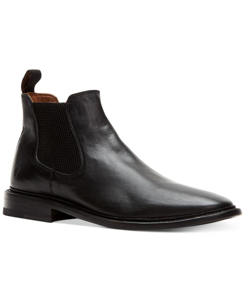 新着 送料無料 サイズ交換無料 フライ メンズ 日本メーカー新品 シューズ ブーツ Chelsea Paul Black Boots レインブーツ Men's