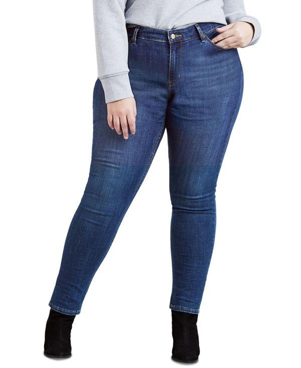 Jeans COBALT Size デニムパンツ Trendy ボトムス リーバイス 711 OVERBOARD Skinny Plus レディース PLUS