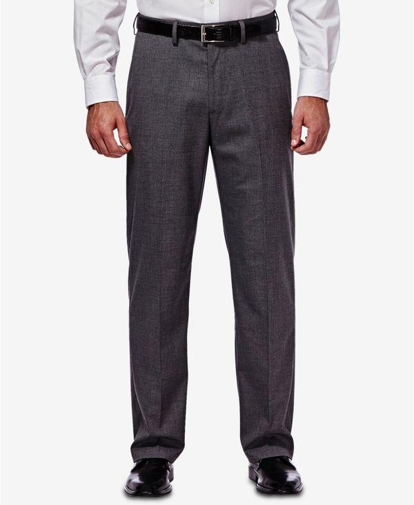 送料無料 サイズ交換無料 ハガー 公式 メンズ ボトムス カジュアルパンツ Dark Grey J.M. Suit Pants Classic Men's Fit Regular 秀逸 Stretch Sharkskin