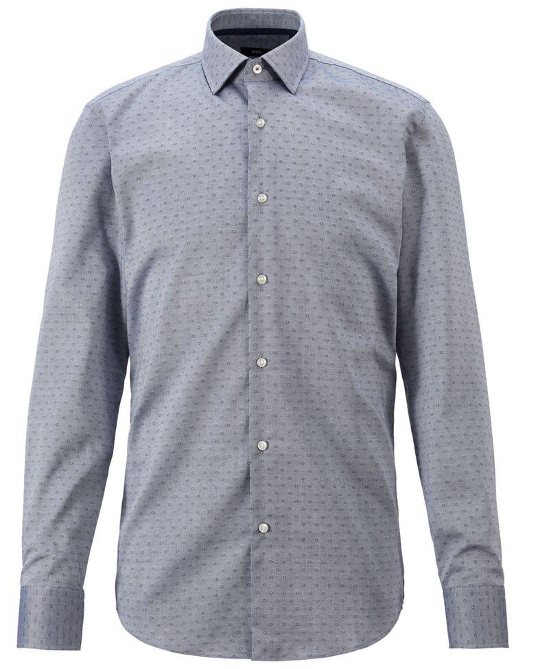 送料無料 サイズ交換無料 ヒューゴボス メンズ 2020秋冬新作 トップス シャツ アウトレットセール 特集 Jesse Men's BOSS Navy Slim-Fit Shirt