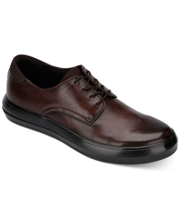 送料無料 サイズ交換無料 ケネスコール メンズ シューズ スニーカー 本物 Dress Brown 超目玉 Round-Toe Lace-Up Men's Sneakers