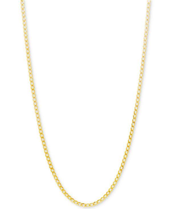 送料無料 サイズ交換無料 <セール&特集> イタリアン ゴールド レディース アクセサリー ネックレス 休日 チョーカー ペンダントトップ Yellow Chain Curb Gold Link 2-1 3mm Necklace 22 10k in