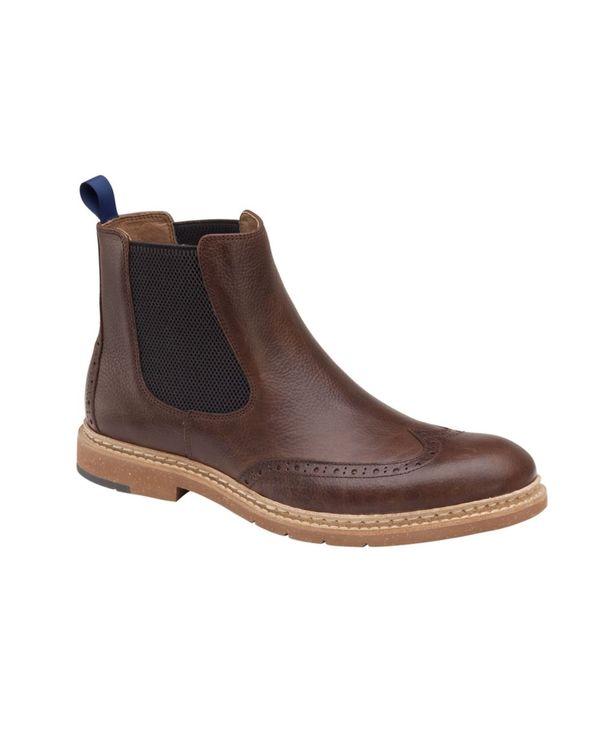 送料無料 サイズ交換無料 ジョンストンアンドマーフィー メンズ 公式 シューズ ブーツ レインブーツ Boot 最安値 Brown Men's Pearce Dark Chelsea