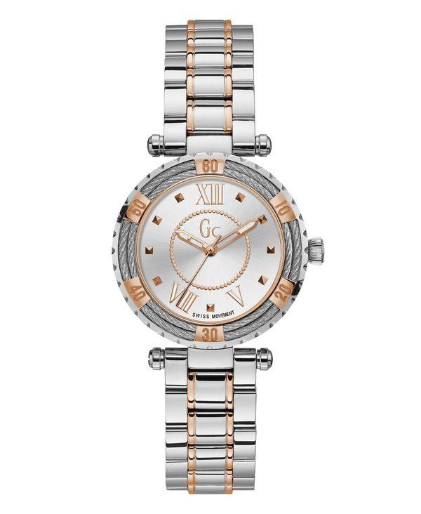 <title>送料無料 サイズ交換無料 ゲス レディース アクセサリー 腕時計 Two Tone Gc Women's Lady Diver Cable Two-Tone Bracelet Watch 34mm ●手数料無料!!</title>