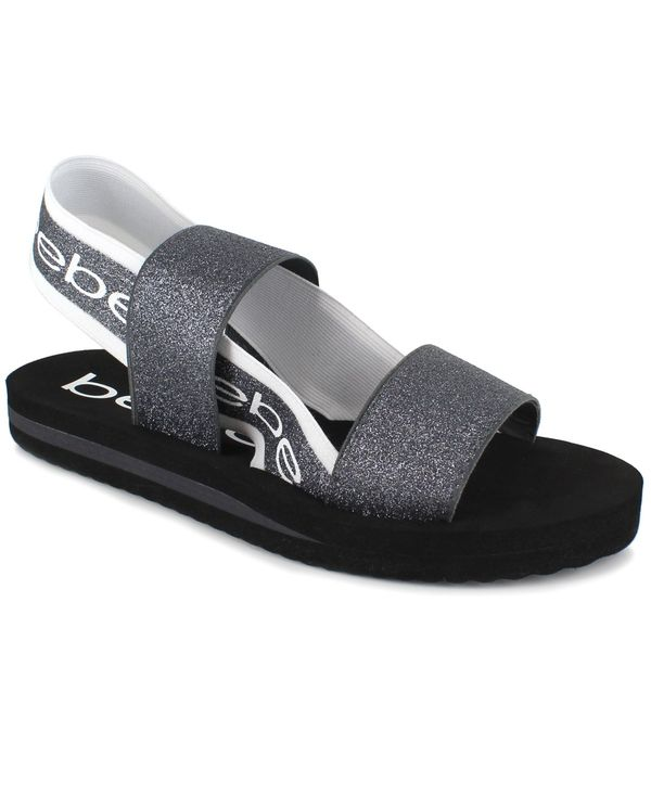 送料無料 サイズ交換無料 ベベ レディース シューズ 税込 サンダル Pewter Stretch Women's Atena Band 低価格 Glitter Sandals