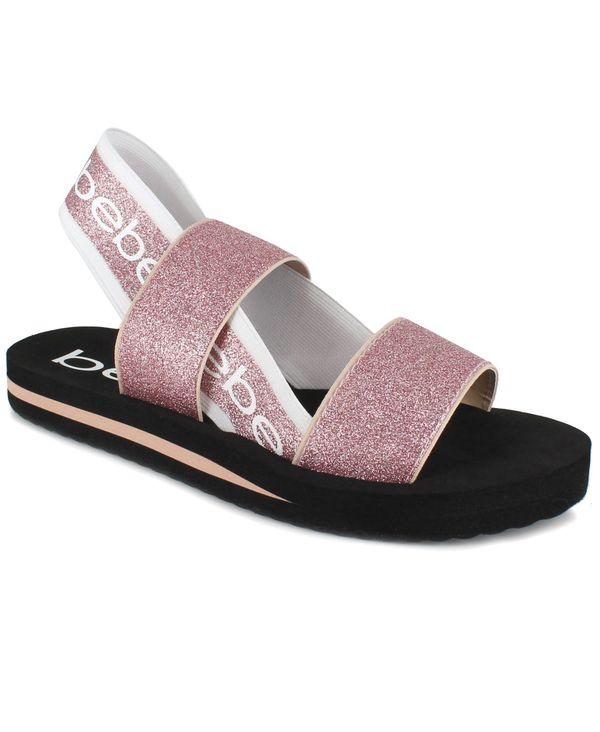 完売 送料無料 品質検査済 サイズ交換無料 ベベ レディース シューズ サンダル Pink Women's Sandals Glitter Atena Band Stretch