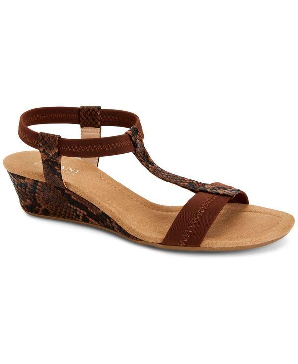 今だけ限定15%OFFクーポン発行中 送料無料 サイズ交換無料 アルファニ レディース シューズ サンダル Chocolate Snake Sandals Voyage 'N Step Wedge 直輸入品激安 Women's Flex
