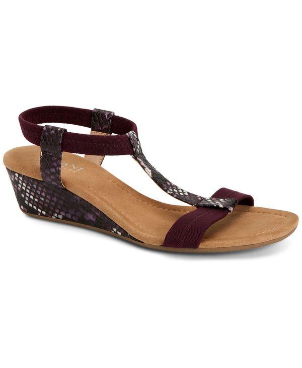 送料無料 サイズ交換無料 アルファニ レディース シューズ サンダル 価格 未使用 Purple Snake Sandals Flex Wedge Step Voyage Women's 'N
