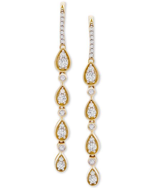 ラップド イン ラヴ レディース ピアス·イヤリング アクセサリー Diamond Teardrop Dangle Drop Earrings (1 ct. t.w.) in 14k Gold Yellow Gold