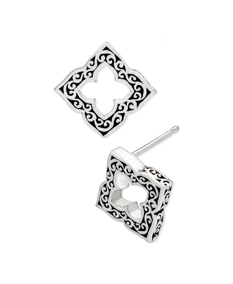 ロイスヒル レディース ピアス・イヤリング アクセサリー Filigree Cut-Out Stud Earrings in Sterling Silver Silver