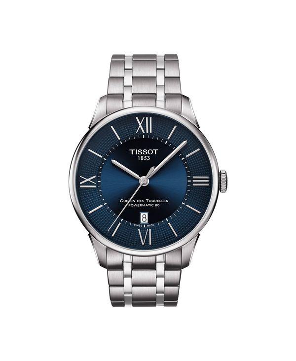 <title>送料無料 サイズ交換無料 ティソット メンズ アクセサリー 腕時計 Silver Men's Swiss Automatic 毎日がバーゲンセール T-Classic Chemin des Tourelles Powermatic 80 Gray Stainless Steel Bracelet Watch 42mm</title>