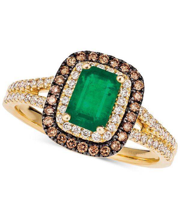 おすすめ ル ヴァン レディース リング アクセサリー Costa Smeralda Emerald (3/4 ct. t.w.) & Diamond (3/8 ct. t.w.) Halo Ring in 14k Gold Green Group, 伊香保町 67b187ca