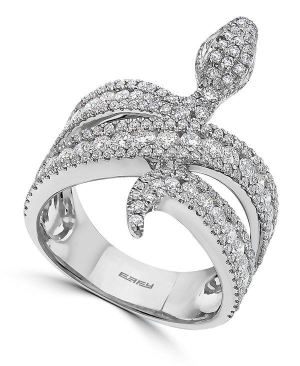 【美品】 エフィー レディース リング アクセサリー EFFY® Diamond Snake Ring (1-1/2 ct. t.w.) in 14k White Gold White Gold, タザワコマチ 5c9ef462