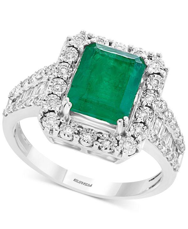 2021人気特価 エフィー レディース リング アクセサリー Brasilica by EFFY® Emerald (2-1/5 ct. t.w.) & Diamond (1/2 ct. t.w.) Ring in 14k White Gold & 14k Yellow Gold Emerald/White Gold, 名川町 df873f80