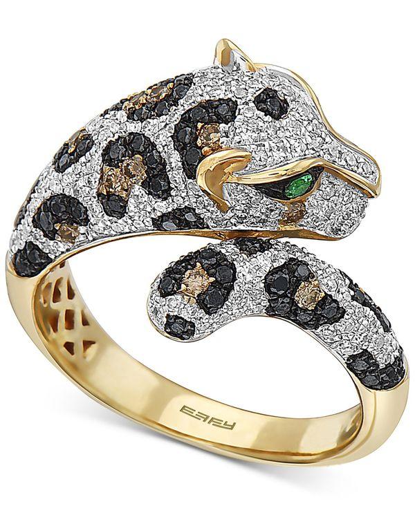 使い勝手の良い エフィー レディース リング アクセサリー アクセサリー EFFY® & Multi-Color Diamond Yellow (1-1/20 ct. t.w.) & Tsavorite Accent Ring in 14k Gold Yellow Gold, 井手町:8ce9c86b --- risesuper30.in