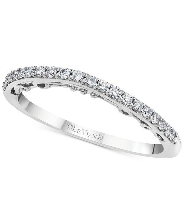 売れ筋商品 ル ヴァン White レディース リング アクセサリー Vanilla Vanilla Diamond® Wavy ル Band (1/6 ct. t.w.) in 14k White Gold White Gold, 津名郡:5c49ca1a --- themezbazar.com