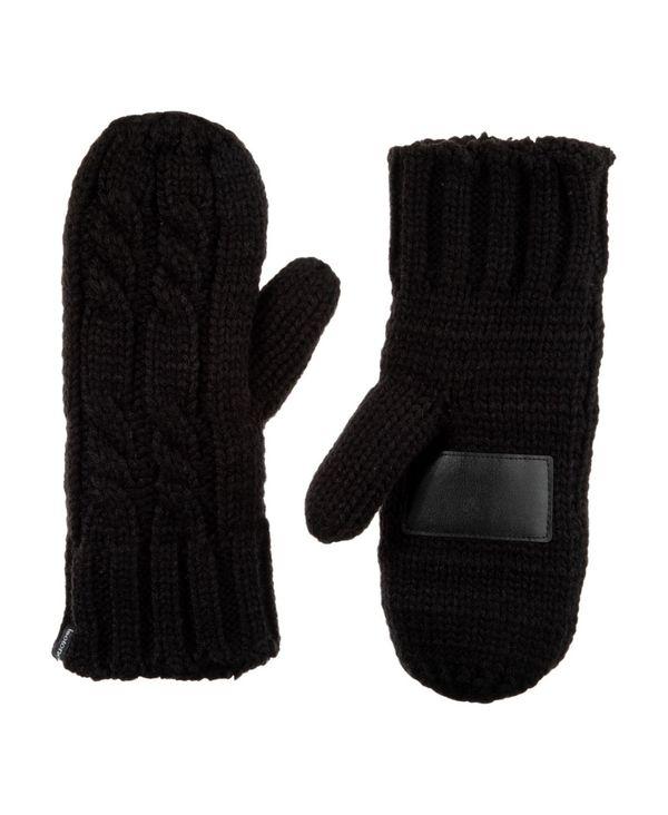年中無休 送料無料 サイズ交換無料 アイソトナー 正規販売店 レディース アクセサリー 手袋 Black Cable Mittens Gloves Women's Knit Chunky Lined