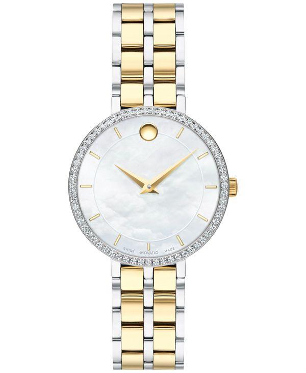 送料無料 サイズ交換無料 モバド レディース アクセサリー 腕時計 Two Tone 休日 Women's Swiss Kora Diamond 完売 Watch 28mm 4 Bracelet t.w. 1 ct. Stainless Two-Tone Steel PVD